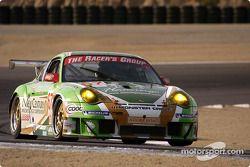 La Porsche 911 GT3 RSR n°67 The Racers Group : Pierre Ehret , Robert Julien