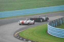 Archie Urciuoli Lola T-70 Spyder. and Doc Bundy Lotus 23B have a battle.