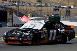 Denny Hamlin, Joe Gibbs Racing Toyota pris dans un accident