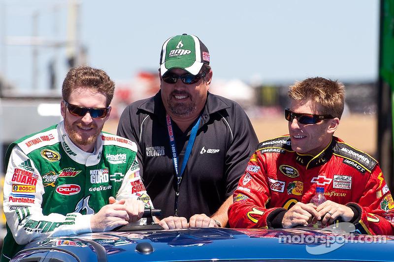 Dale Earnhardt Jr., Hendrick Motorsports Chevrolet en Jamie McMurray, Earnhardt Ganassi Racing Chevrolet