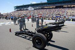 Fusils pour les cérémonies d'avant course