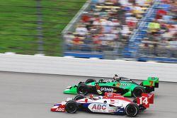 Vitor Meira, A.J. Foyt Enterprises passes Danica Patrick, Andretti Autosport