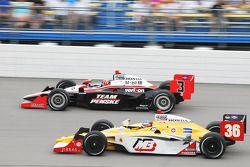Helio Castroneves, Team Penske et Bertrand Baugette, Conquest Racing