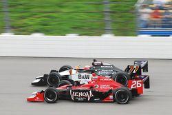 Marco Andretti, Andretti Autosport and AlexTagliani, FAZZT Racing