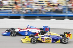 Graham Rahal, Dreyer and Reinbold Racing and Alex Lloyd, Dale Coyne Racing