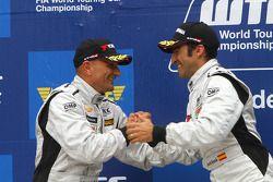 Podium, Gabriele Tarquini, SR - Sport, Seat Leon 2.0 TDI and Jordi Gene, SR - Sport, Seat Leon 2.0 T
