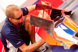 A Arden International mechanic at work