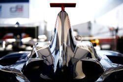 Detail van de bodywork van de auto van Josef Newgarden
