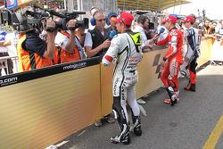 Pole winner Jorge Lorenzo, Fiat Yamaha Team, second place Randy De Puniet, LCR Honda MotoGP, third p