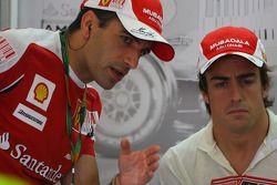 Тест-пилот Марк Жене и Фернандо Алонсо, Scuderia Ferrari
