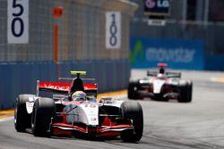 Pastor Maldonado leads Jules Bianchi