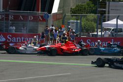 Crash at turn 2, start of the race, Oliver Turvey and Charles Pic