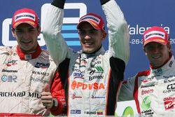 Jules Bianchi, Pastor Maldonado and Sam Bird