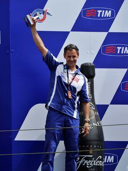 Podium: Wilco Zeelenberg, team manager for Jorge Lorenzo, Fiat Yamaha Team
