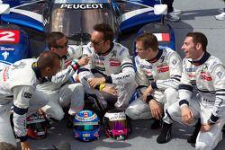 Stéphane Sarrazin, Nicolas Minassian, Franck Montagny, Sébastien Bourdais en Simon Pagenaud