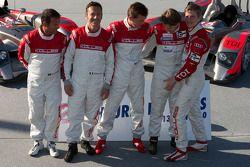 #14 Kolles Audi R10: Christijan Albers, Scott Tucker, Manuel Rodrigues, #15 Kolles Audi R10: Christi