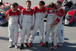 #14 Kolles Audi R10: Christijan Albers, Scott Tucker, Manuel Rodrigues, #15 Kolles Audi R10: Christian Bakkerud, Christophe Bouchut