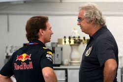 Кристиан Хорнер, руководитель Red Bull Racing, и Флавио Бриаторе