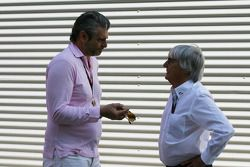 Maurizio Arrivabene Marlboro Europe Brand Manager and Bernie Ecclestone