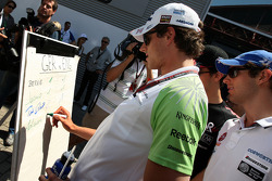 Adrian Sutil, Force India F1 Team, The drivers predict the score for the England v Germany football match