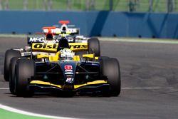 Marcus Ericsson leads Giedo Van der Garde and Michael Herck