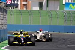 Marcus Ericsson leads Sam Bird