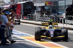 Marcus Ericsson celebrates his victory