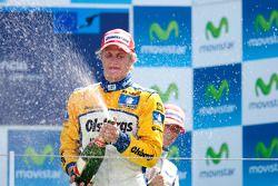 Marcus Ericsson fête son succès sur le podium