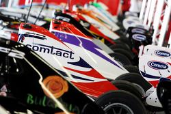 Formula Two cars in the garage