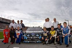 The NASCAR Nationwide Ford teams pose for a picture
