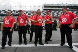 Earnhardt Ganassi Racing Chevrolet watches as Juan Pablo Montoya qualifies
