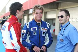 Jolyon Palmer, Jack Clarke and Simon Melluish FIA Media Officer