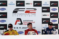 Persconferentie: winnaar Jolyon Palmer, 2de Benjamin Bailly, 3de Jack Clarke