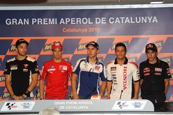 Post-qualifying press conference: pole winner Jorge Lorenzo, Fiat Yamaha Team, second place Casey St