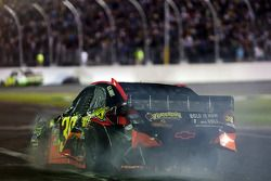 Ryan Newman, Stewart-Haas Racing Chevrolet crashes