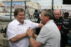 Norbert Haug, Sporting Director Mercedes-Benz congratulated Igmar Persson, Team Owner Persson Motors