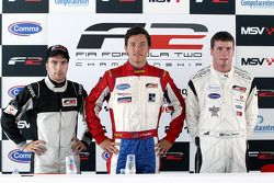 Pole winner Jolyon Palmer, second place Philipp Eng, third place Dean Stoneman