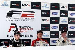 Pole winner Jolyon Palmer, second place Philipp Eng, third place Dean Stoneman
