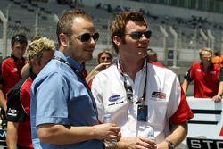 Simon Melluish FIA press and media officer, and James Gornall F2 Championship Co-ordinator