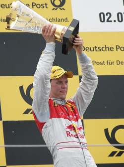 Podium: second place Mattias Ekström, Audi Sport Team Abt Audi A4 DTM