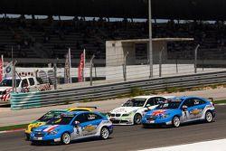 Yvan Muller, Chevrolet, Chevrolet Cruze LT en Gabriele Tarquini, SR - Sport, Seat Leon 2.0 TDI