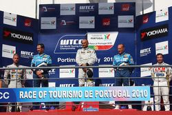 Podium, Fredy Barth, Seat Leon 2.0 TDI, Yvan Muller, Chevrolet, Chevrolet Cruze LT, Gabriele Tarquin