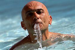 Gabriele Tarquini, SR - Sport, Seat Leon 2.0 TDI dans la piscine