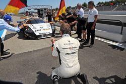 Third place #33 Triple H Team Hegersport Maserati MC12: Altfrid Heger, Alexandros Margaritis