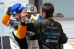Race winner Andrea Bertolini celebrates