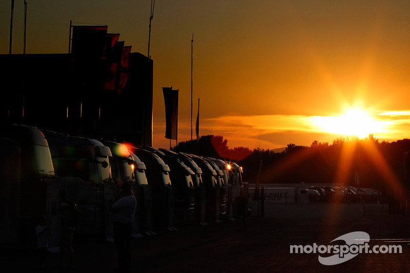 Sunset over Circuit Paul Ricard