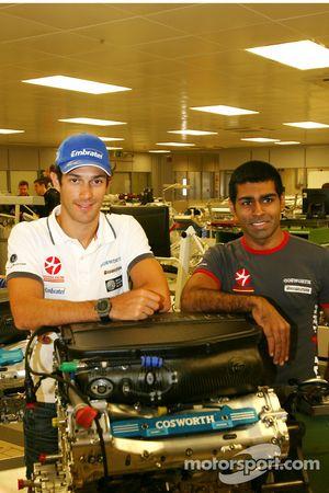 Bruno Senna, Hispania Racing F1 Team en Karun Chandhok, Hispania Racing F1 Team, bezoeken de Coswort