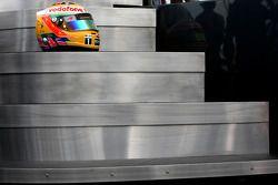 De nieuwe helm van Lewis Hamilton, McLaren Mercedes