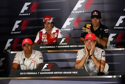 Lewis Hamilton, McLaren Mercedes, Fernando Alonso, Scuderia Ferrari, Mark Webber, Red Bull Racing, J