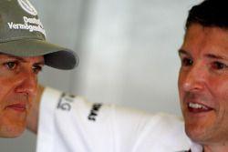 Michael Schumacher, Mercedes GP, Nick Fry, Chief Executive Officer, Mercedes GP
